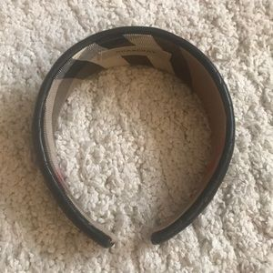 Burberry Quilted Black and Novacheck Headband